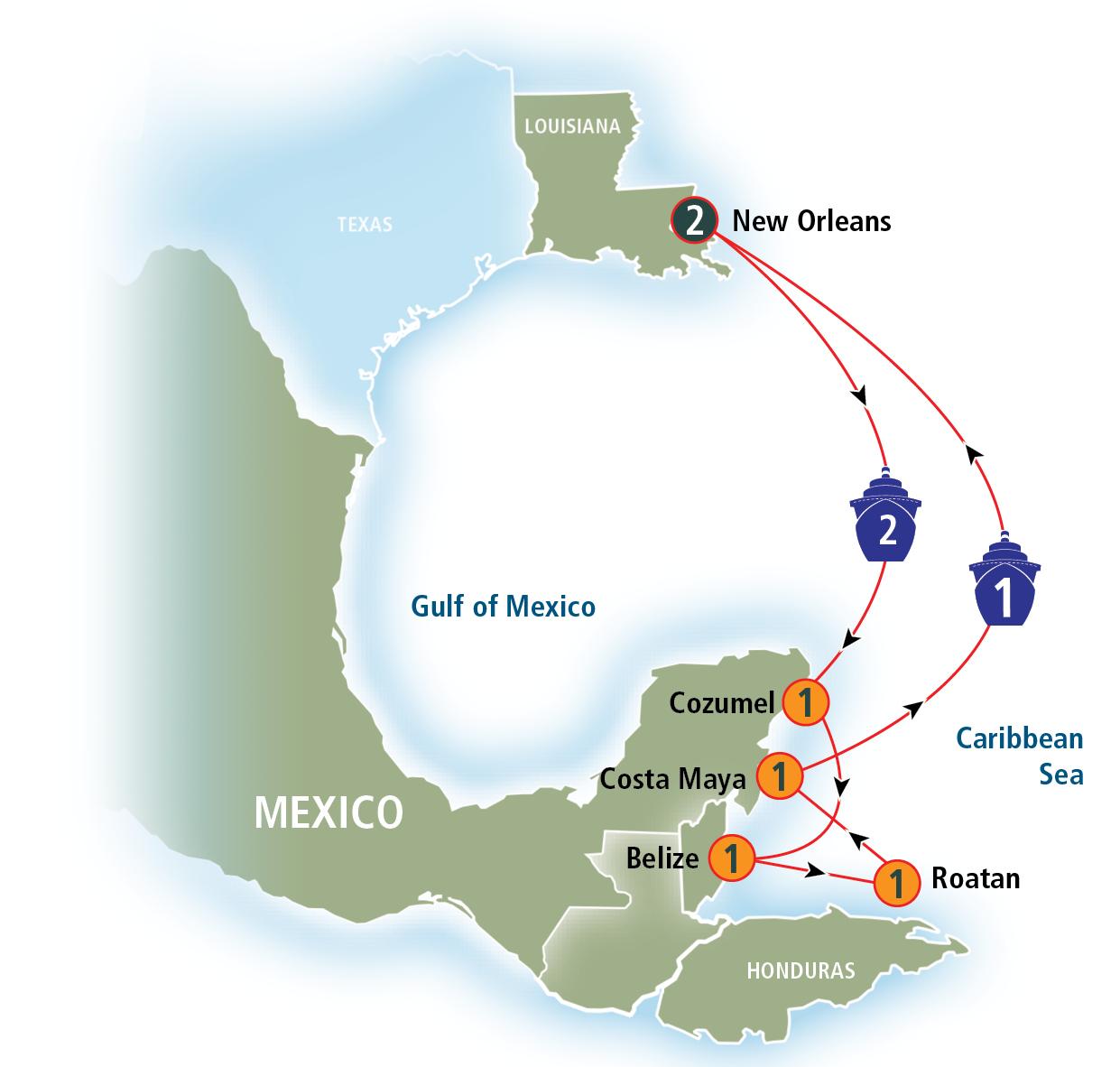 Norwegian Cruise Lines Day Western Caribbean Cruise Dawn With - West caribbean cruise