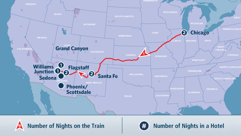 Amtrak Grand Canyon Discovery Tour
