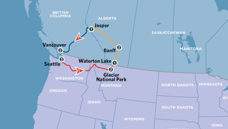 DONT USE The Canadian Rockies With Glacier National Park Amtrak - Amtrak us map vacations scenic